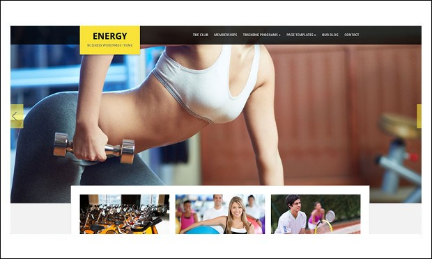 Energy - Gym WordPress Themes