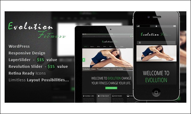 Evolution Fitness - Gym WordPress Themes