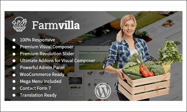 Farmvilla - WordPress Responsive Agriculture Themes