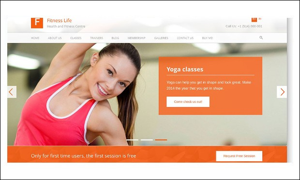 FitnessLife - Gym WordPress Themes