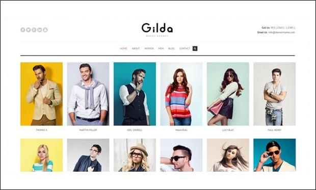 Gilda - WordPress Themes for Actors