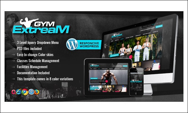 Gym Extream - Gym WordPress Themes