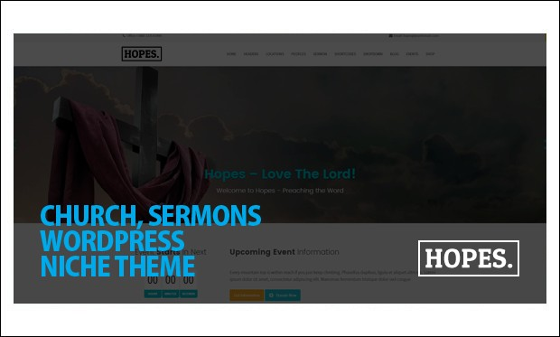 Hopes - WordPress themes for Church Website