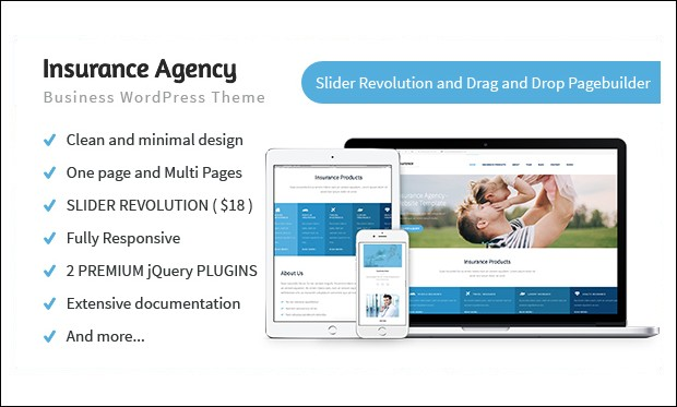 Insurance Agency - WordPress Insurance Agency Theme