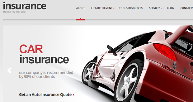 Insurance - WordPress Responsive Automotive & Automobile Theme