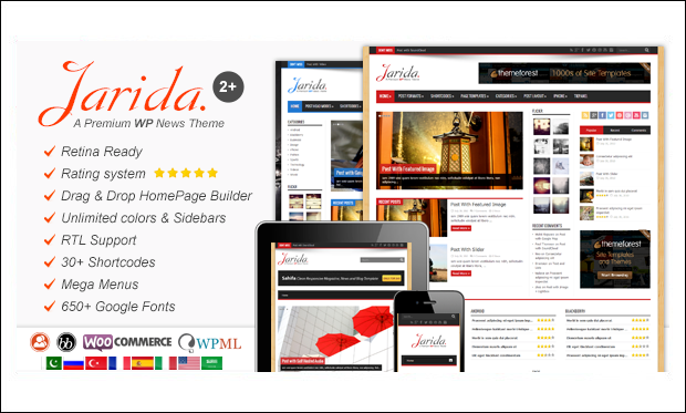 Jarida - Arabic WordPress Themes