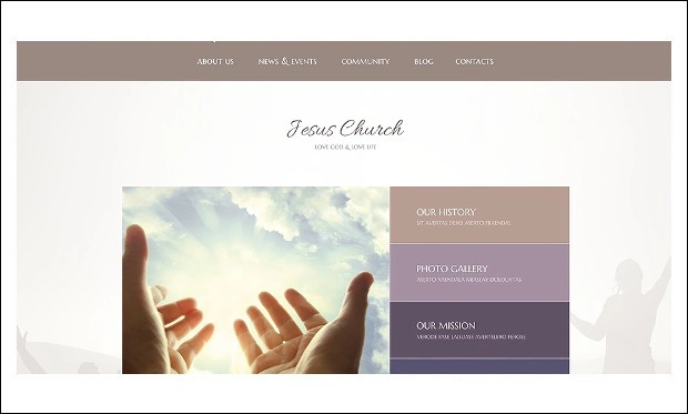 Jesus Church - WordPress themes for Church Website