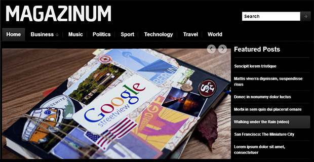 Magazinum - WordPress Responsive Theme