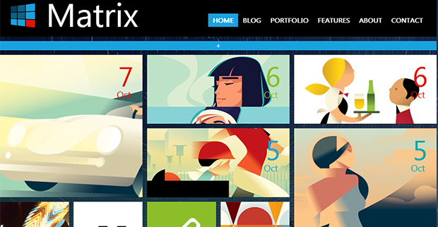 Matrix - WordPress Responsive Animated Theme