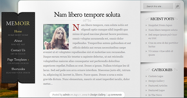 Memoir - WordPress Responsive Travel Theme