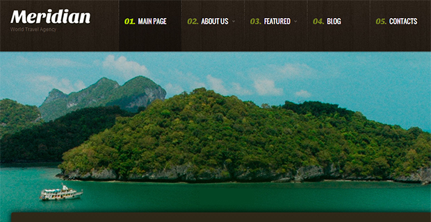 Meridian - WordPress Responsive Travel Theme