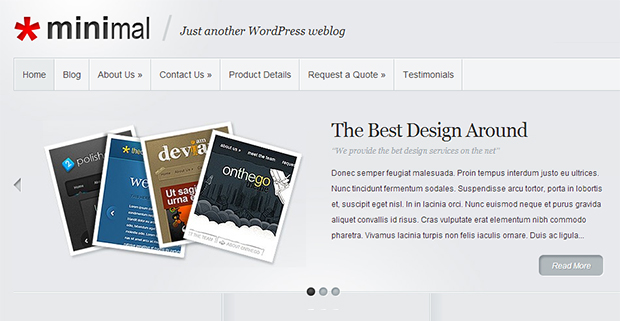 Minimal WordPress Responsive Theme