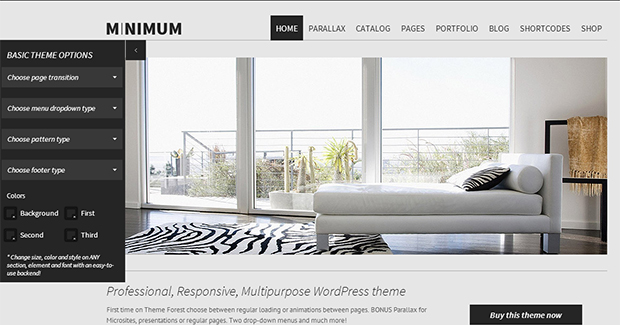 Minimum - WordPress Responsive Animated Theme