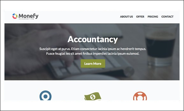 Monefy - Accounting & Auditing Websites WordPress Themes