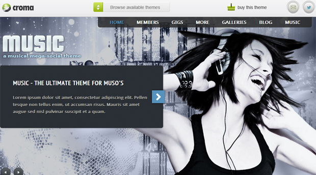 Music Responsive Band WordPress Theme