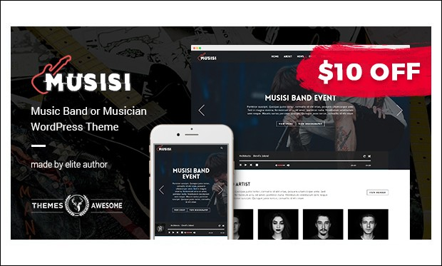 Musisi - Band WordPress Themes