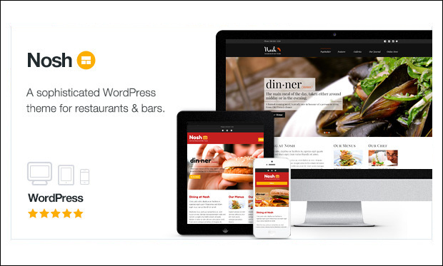 Nosh - Beautiful Bar WordPress Themes