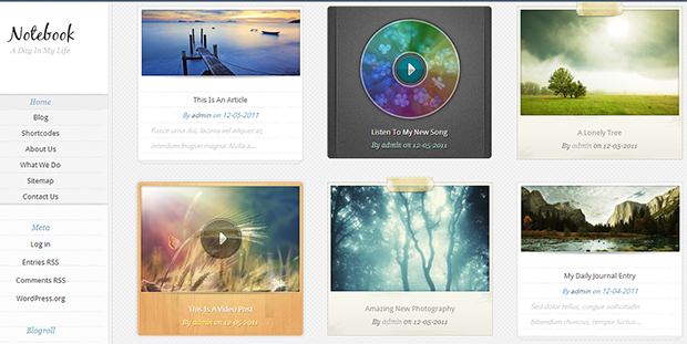 Notebook - WordPress Responsive Theme