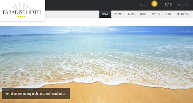 Paradise Hotel - Responsive Travel WordPress Theme