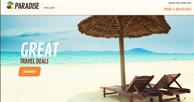 Paradise - WordPress Responsive Travel Theme