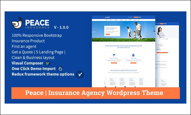 Peace - WordPress Insurance Agency Themes