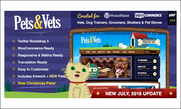 Pets & Vets - Cartoon WordPress Responsive Themes