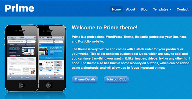 Prime - WordPress Responsive Apple Inspired Theme