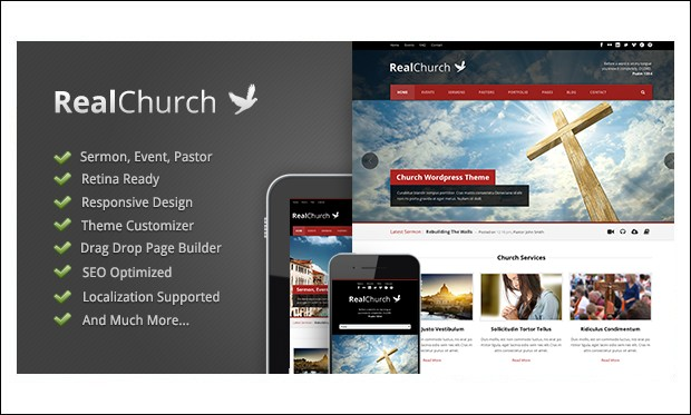 Real Church - WordPress themes for Church Website