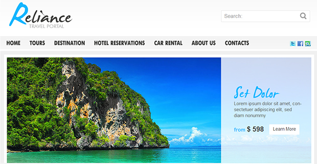 Reliance - WordPress Responsive Travel Theme