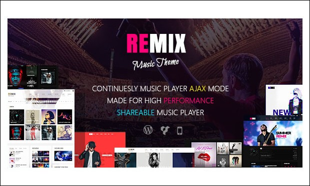 Remix - Band WordPress Themes