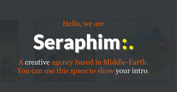 Seraphim - WordPress Responsive Animated Theme