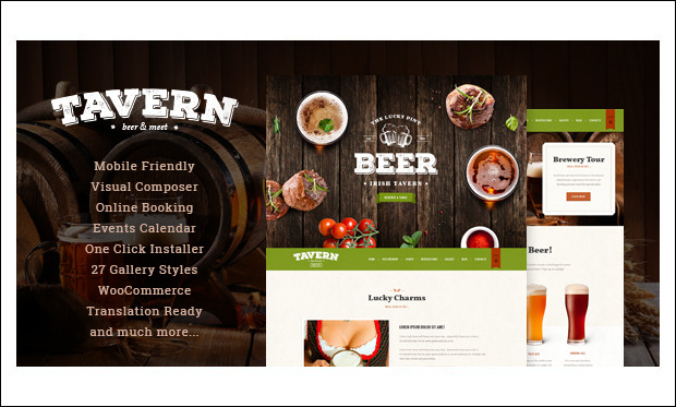 Tavern - Beautiful Bar WordPress Themes