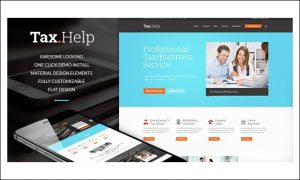 Tax Help - Accounting & Auditing Websites WordPress Themes