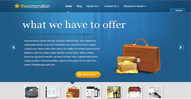 The Corporation WordPress Themes