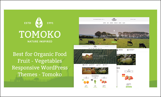 Tomoko - WordPress Responsive Agriculture Themes
