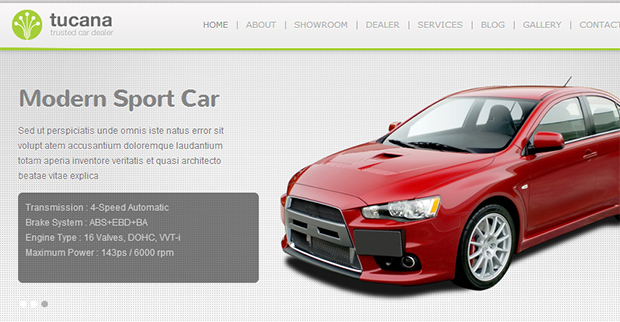 Tucana - WordPress Responsive Automotive & Automobile Themes