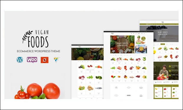 Vegan Food - WordPress Responsive Agriculture Themes