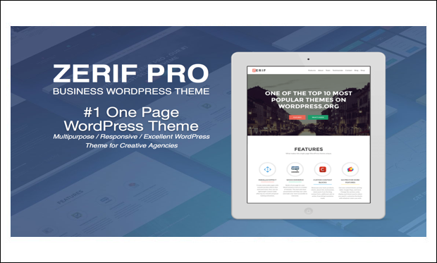 Zerif Pro - Arabic WordPress Themes