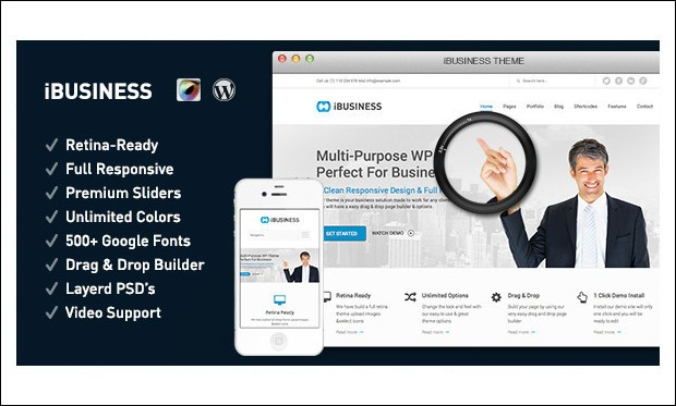 iBusiness - WordPress Insurance Agency Themes