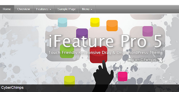 iFeature Pro5  - WordPress Responsive Apple Inspired Themes