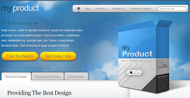 my product WordPress Responsive Theme