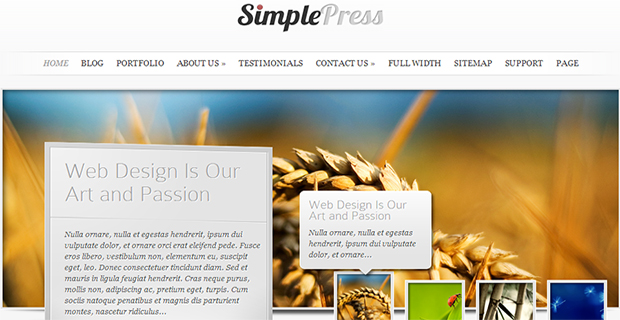 simple press Insurance Agency Themes