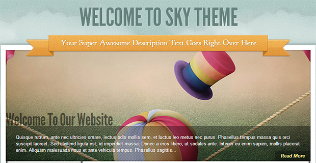 sky - WordPress Responsive Gallery Theme