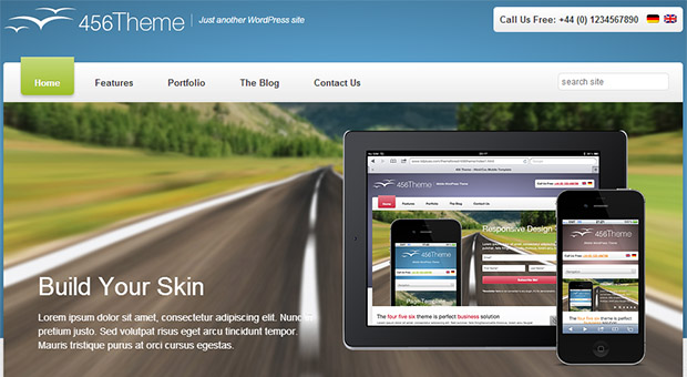 456 theme - Tourism WordPress Responsive Theme