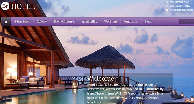 5 Star - Tourism WordPress Responsive Theme