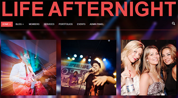 Afternight - Mobile DJ Responsive WordPress Theme