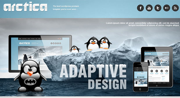 Arctica - Beachy WordPress Responsive Theme