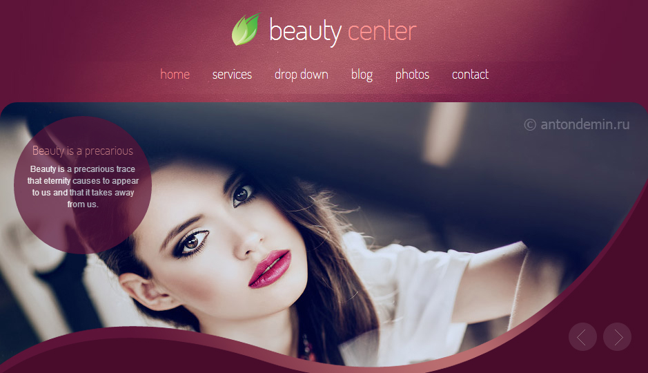 Beauty Center - Nail Salon WordPress Responsive Theme