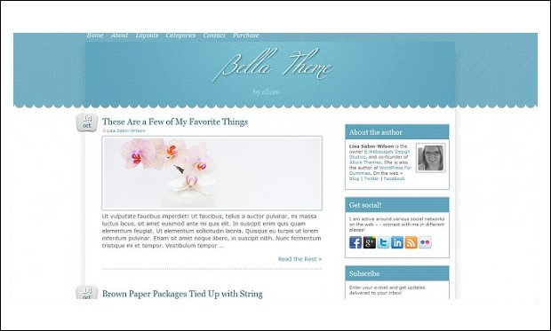 Bella - Mommy Blogger WordPress Responsive Themes