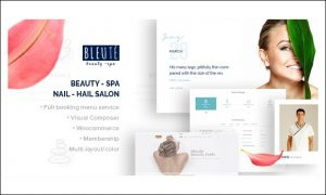 Bleute - Nail Salon WordPress Responsive Themes